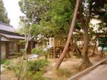 昭和期 園内にあった滑り台と庭の画像